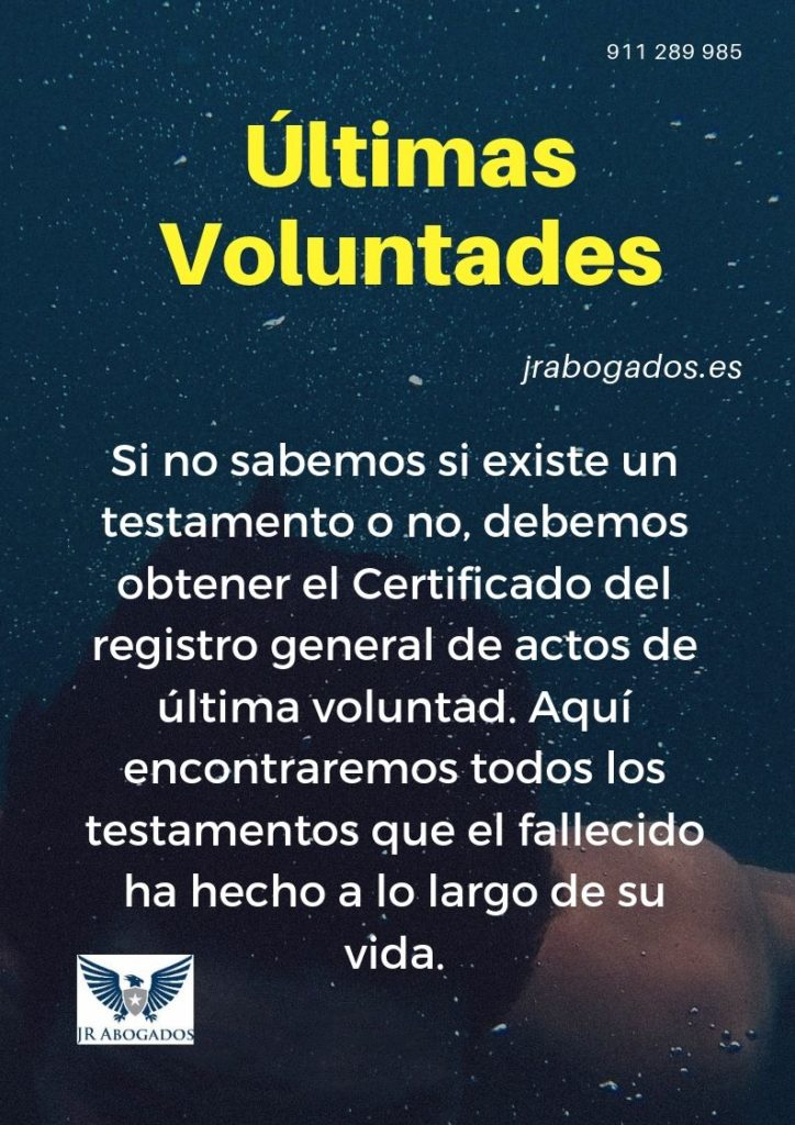 certificado de actos de última voluntad